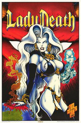 LOT OF 2 POSTERS :FANTASY :  LADY DEATH - RED BACKGROUND     #3169      LP59 i