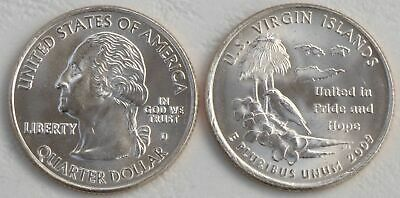 USA State Quarter 2009 Amerikanische Jungferninseln U.S. Virgin Islands D unz.