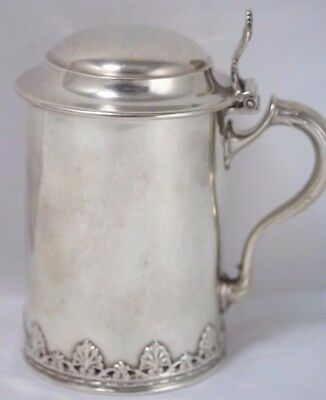 Antique Sterling Silver 1 Pint Tankard/Stein