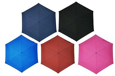 KUD Lightweight Compact travel manual umbrella with 50 inch Arc large coverage