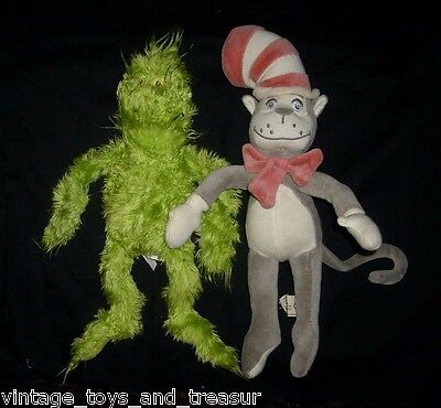 12 Pair Dr Seuss Cat In The Hat Grinch Stuffed Animal Plush Toy