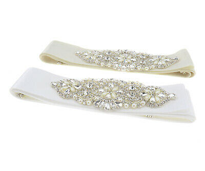 Luxury Crystal Bridal Sash Rhinestone Wedding Dress Belt Waistband Decoration