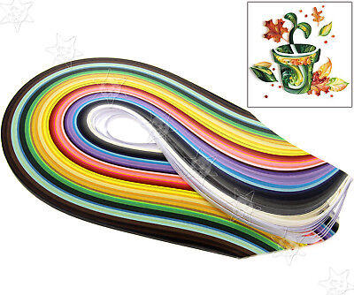 5mm Quilling Paper Strips 50 Colours Assorted DIY Craft 500pcs 540mm
