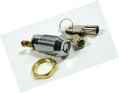"""5/8"""" on/off key switch lock spst key removable on or off with 2 keys and nut;"""
