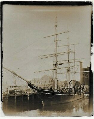 Period Photograph Of The Whaling Bark Wanderer At New Bedford