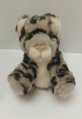Wild Republic Snow Leopard Baby 5 Plush K M Grey Cat Kitten Stuffed