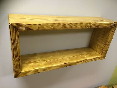 Verry Solid Wall Cube Large wood SHELVES SHELF Vintage antique handmade Bookcase