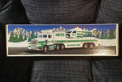 Hess Toy Truck & Helocopter 1995 (NIB) Hess Truck 1995 New In Box