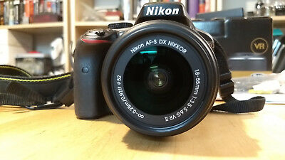 Nikon D D3300 24.2MP Digital SLR Camera - Black (w/ AF-S DX VR II 18-55mm Lens)