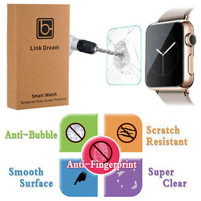 9H Anti-Scratch Tempered Glass Screen Protector for Apple Watch Series 1/2, 38mm