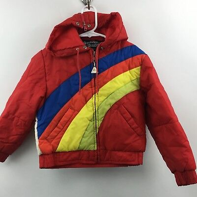 Vintage Kids Pacific Trail weather watcher hooded coat hot air balloon 6
