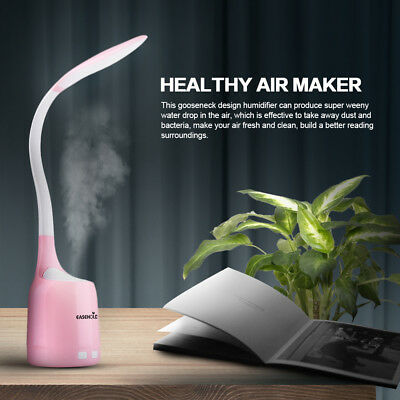 Free Ship Air Humidifier & Table Desk Lamps 16 LED Night Light For Room Study