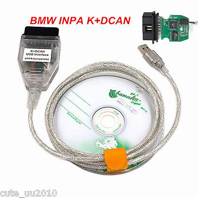 For BMW Diagnostic Tool Cable Scanner INPA/Ediabas K+DCAN USB Interface OBD OBD2