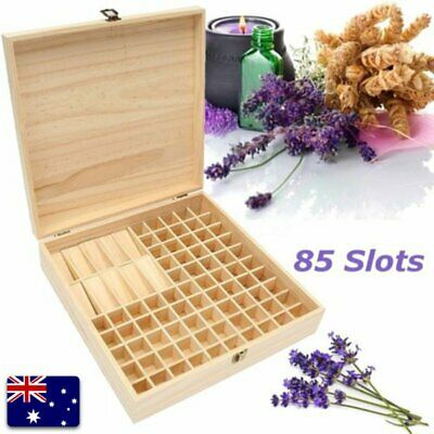 85 Bottle Essential Oil Wooden Storage Box Case Container Aromatherapy FC