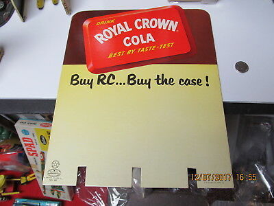 ROYAL CROWN COLA RC 1940s HEAVY CARDBOARD WOOD CASE TOPPER NEHI NEW OLD STOCK