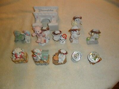 Lot 12 Dreamsicles Figurines Kristen Cherubs mixed size