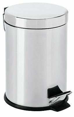 HOME 3 Litre Stainless Steel Pedal Bin