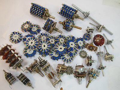 LOT Rotary Wafer Switches, Grayhill, New & Used Tube Amp Ham Parts