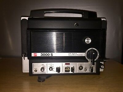 GAF/Chinon 3000S Super 8mm Sound Vari-Spd Movie Projector!