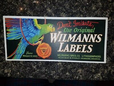 Wilmanns Bros. Lithographers Milwaukee Wisconsin advertising card.