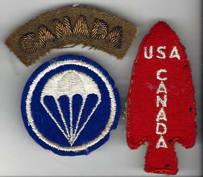 WW2 1st Special Service Force group,nice worn patch. Bullion CANADA tab,cap ptch