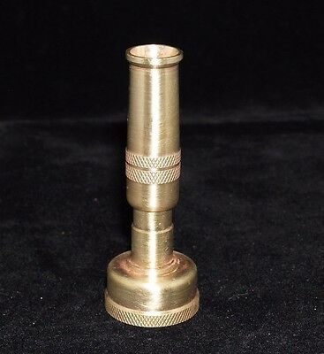 Vintage old solid brass garden water hose small attachment spray nozzle #6