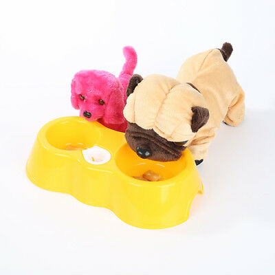 Pet Dog Puppy Cat Kitten Automatic Water Dispenser Food Dish Bowl Feeder F9Y
