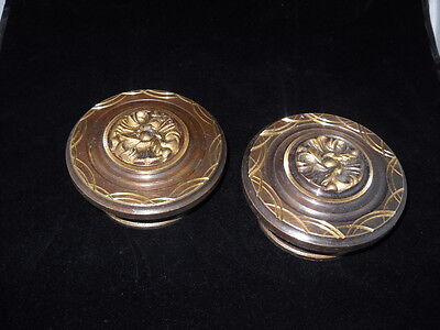 Pair of Greece Vintage Solid Brass Ornate Door Knobs Handles Push/Pull #4