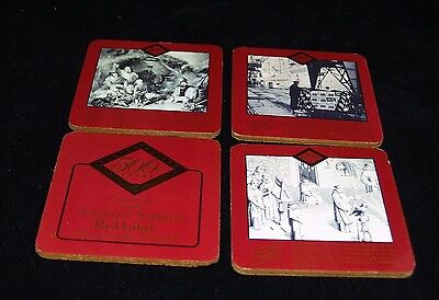 Johnnie Walker Red Label Vtg 4 Cork Coasters 500 Years Distilling Scotland #2