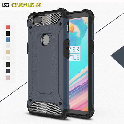For Oneplus 5T Hard Case Rugged Armor Shockproof Rubber Protective Phone Cover