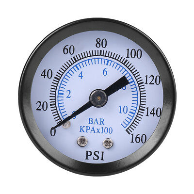 "Mini Pressure Gauge For Fuel Air Oil Water 0-160psi/0-10bar 1/8"" NPT Thread SG"
