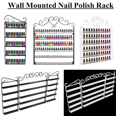Metal Wall Mounted Nail Polish Rack Stand Display Organizer Shelf Holder 3 Types