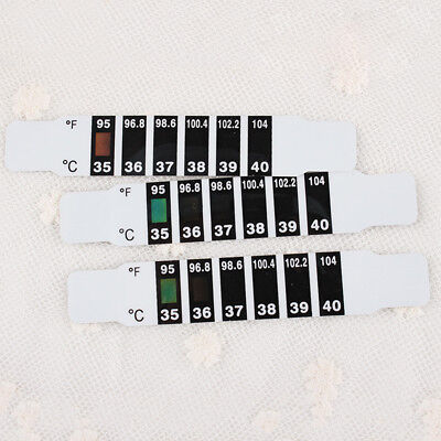 Forehead Thermometer Strip Baby Fever Kids Child Check Test Temperature Bendable