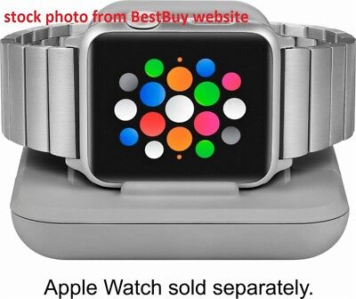 Genuine Insignia Soft-Touch Charging Stand ! NS-AWCSGY ! for Apple Watch ! GRAY