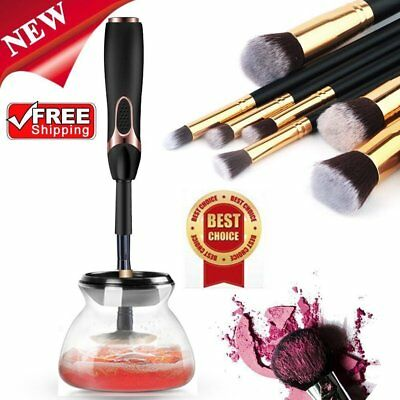 2017 Electric Beauty Cosmetic Brush Makeup Brushes Cleaner Washing Tools Set RR