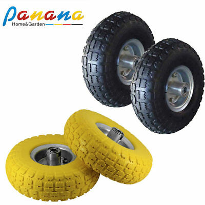 """2x10"""" /13"""" Solid/ Rubber Tyre/Pneumatic Sack Truck Trolley Wheel Barrow Tyres"""