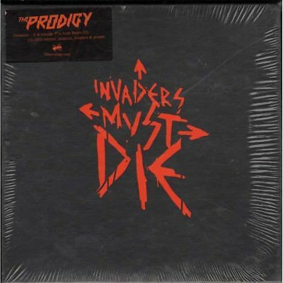 """THE PRODIGY CD DVD 5 x 7"""" Vinyl Invaders Must Die Box Set Deluxe Edition SEALED"""