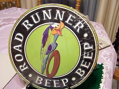 Looney Tunes Road Runner Beep Beep Embossed Sign Metal Tin Sign NEW SEALED