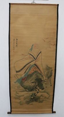 Old Collection Scroll Chinese Painting /Character Painting ZH1033