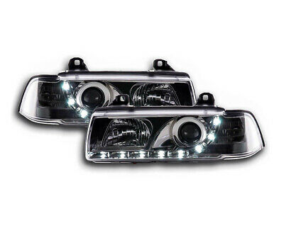 BMW 3 Series E36 Coupe / Cabrio 1992-1998 Chrome LED DRL Daylight Headlights RHD