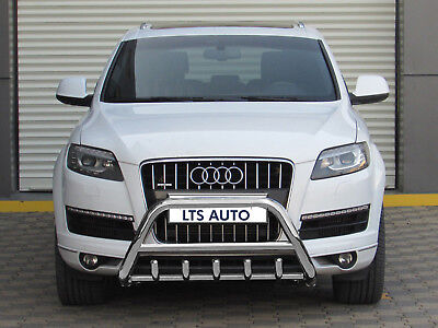 Audi Q7 Chrome Axle Nudge A-Bar Stainless Steel Bull Bar 2004-2014