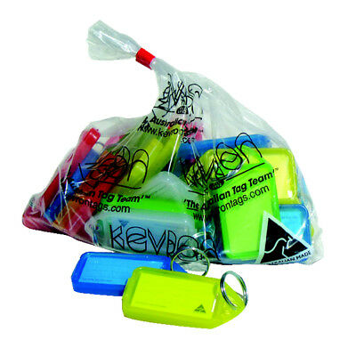 Kevron Plastic Clicktag Key Tag Giant Assorted Pk 25 Id30Ac25