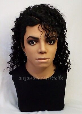 1:1 Lifesize Michael Jackson Bust Bad State Cast Prop Figure NOT Hot Toys