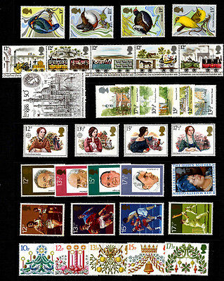 Complete Set Of All Gb Commemorative Stamps Issued From 1980-1983 -126 Mnhstamps
