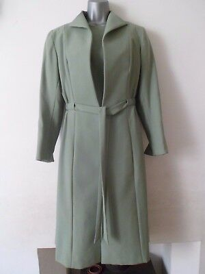 VINTAGE 50's 60S Peggy French COUTURE Tailored DRESS & COAT suit wool