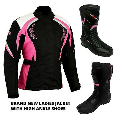 Motorbike Ladies Jacket Textile Motorcycle Women Leather Boot Waterproof Armour