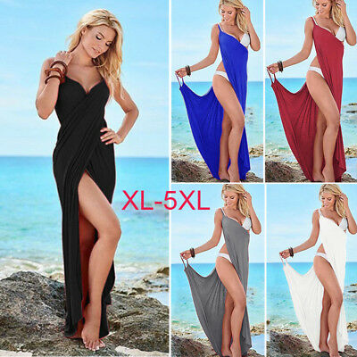 Women One Piece Cover Up Plus Size Swimsuit Swim  Dress Bathing Beach Padded