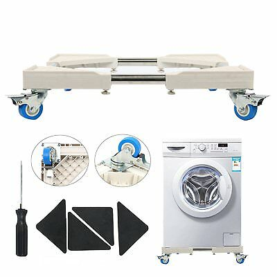 Movable Adjustable Base Telescopic Furniture Dolly w/4 Lock Rubber Caster Wheels