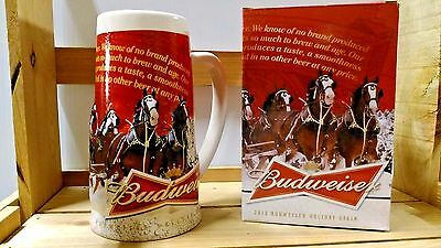 2013 BUDWEISER  HOLIDAY STEIN free shipping NEW IN BOX COA