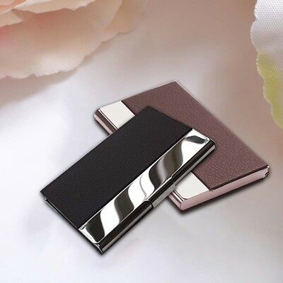Waterproof Stainless Steel Business ID Credit PU Wallet Holder Card Case